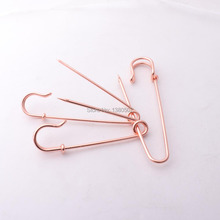 20pcs 63mm Rose gold Color beautiful Safety pins Garment Brooch for women