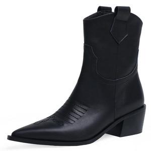 Image 2 - FEDONAS แฟชั่นชี้ Toe รองเท้าส้นสูงผู้หญิงรองเท้า Slip บนรองเท้าตะวันตกของแท้รองเท้าหนังสั้นรองเท้า Party รองเท้าผู้หญิง