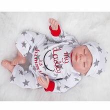 Curved Mohair Baby Dolls Reborn 22 Inch 55 cm Newborn Silicone Sleeping Babies Toy Lifelike Boy Doll Kids Birthday Xmas Gift