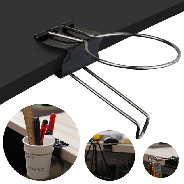 Amazing Us 1 88 6 Off Aliexpress Com Buy Jx Lclyl Creative Desk Table Stand Storage Rack Office Home Drink Cup Holder Clip Black From Reliable Storage Download Free Architecture Designs Rallybritishbridgeorg