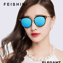 FEISHINI Brand Designer Plastic Frame Oval Sunglasses Women Polarized korea Retro UV400 Fashion Driving Glasses Woman 2019(China)