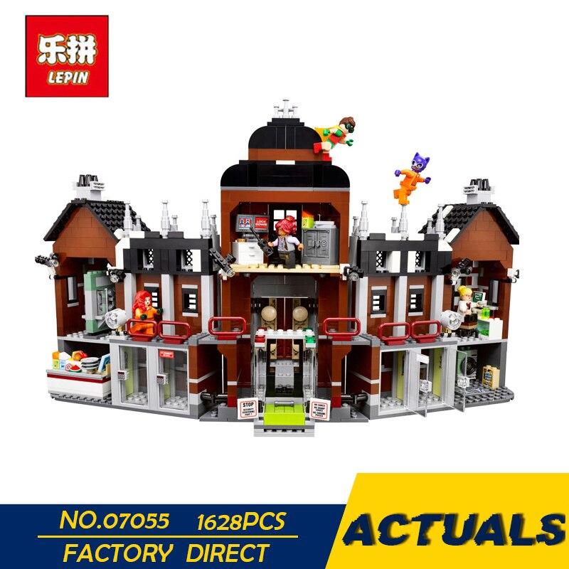 Лепин 07055 1628 шт. натуральная Batman Movie серии Arkham's Lunatic убежище набор строительных блоков Кирпичи игрушки для детей 70912
