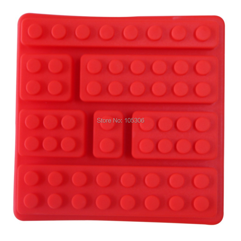 Silicone Ice Mold Cubes Blocks Cake Decorating Tools 7 Bricks Ice Cream Tools Ice Tubs Tray Silicone Cake Mold Chocolate Mould