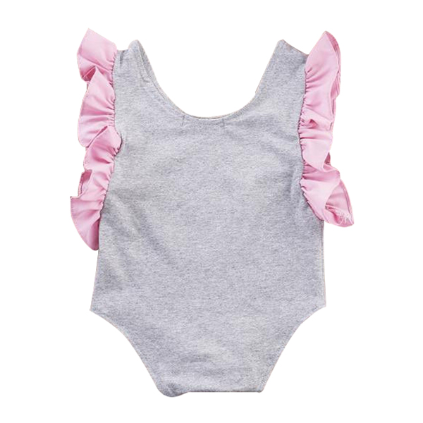 Infant Toddler Baby Girl s Swan Fairy Tale Romper Jumper Jumpsuit Outfit gray