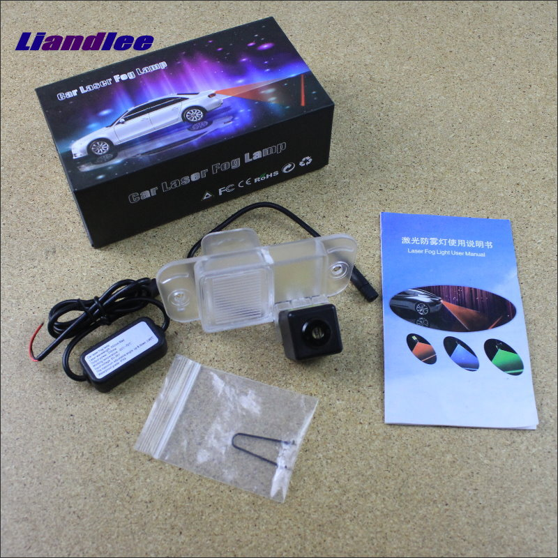 Liandlee For SSangYong Kyron 2006~2015 Car Laser Light Prevent Rear-end Collision Warning Laser Light Haze Rain Fog Snow Lights for buick encore opel mokka 2012 2014 car rain lamp super bright special laser beam rear end collision warning light page href
