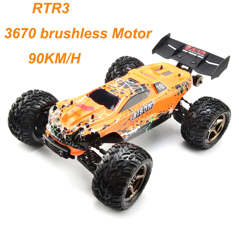 цена на VKAR Bison RC Car 1:10 Scale Waterproof 4WD Off-Road High Speed Electronics Remote Control Monster Truck Racing Truck 90km/h