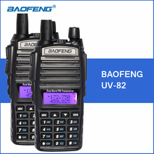 2 pcs/lot baofeng uv-82 talkie walkie double bande vhf uhf de poche Portable Talkie Walkie UV82 Deux Way Ham CB Radio FM émetteur-récepteur