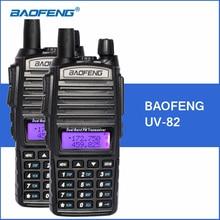 2pcs/lot BAOFENG UV-82 Walkie Talkie Dual Band VHF UHF Handheld Portable Walkie Talkie UV82 Two Way Ham CB Radio FM Transceiver