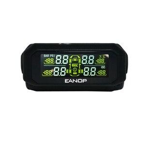 Image 2 - Eanop s600 solar tpms digital lcd sistema de monitoramento pressão dos pneus alarme pressão dos pneus sem fio 4pcs sensores psi/barra