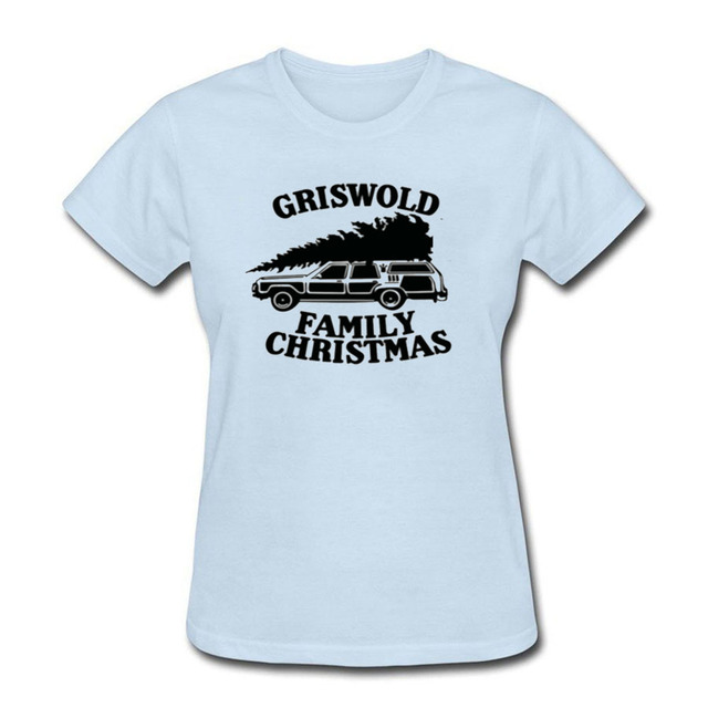 2017 fashion 100 cotton woment shirt custom 40th birthday gift griswold family christmas printed t