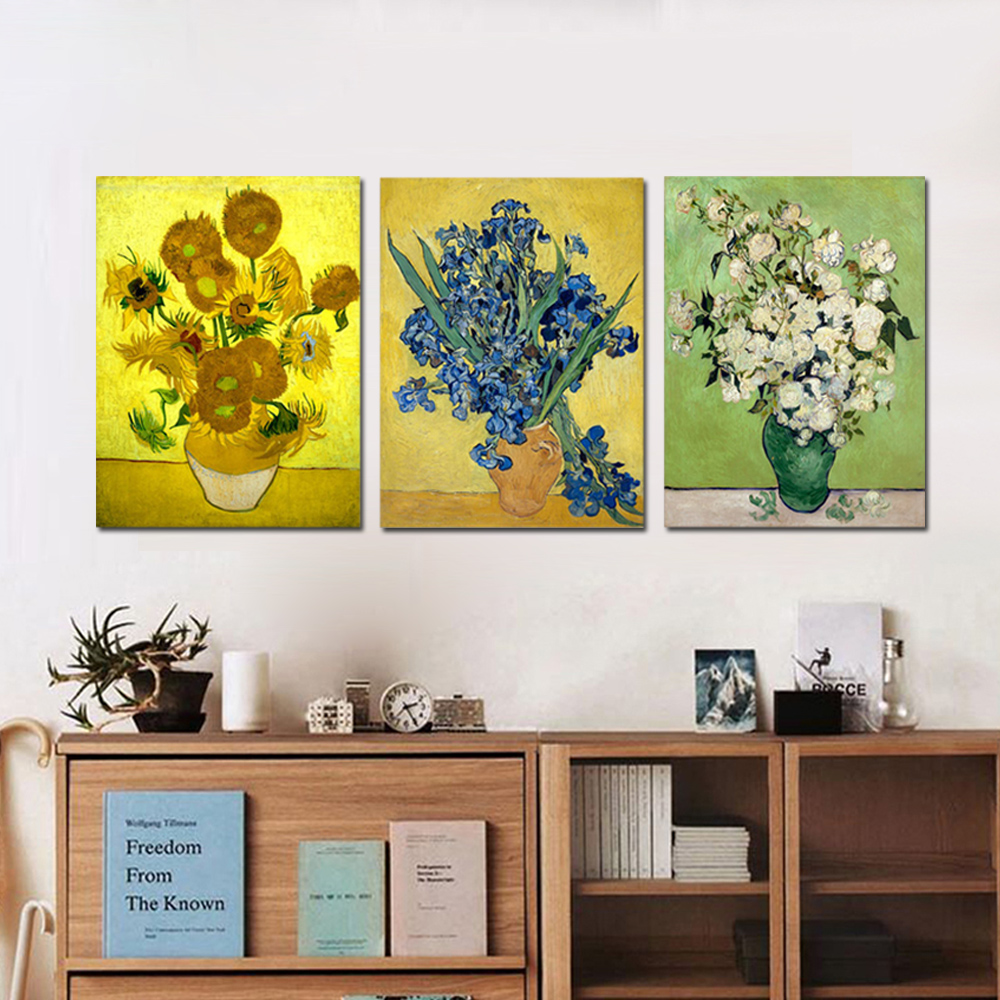 Unframed HD Canvas Painting flower Sunflower Orchid Roses Wall Pictures For Living Room Wall Art Decoration Dropshipping