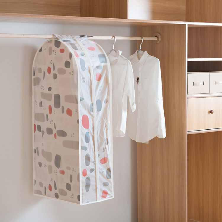 PEVA 3D Printed Hanging Garment Bag by FREELOVE, Clothes Cover Frameless Dustproof Storage Bag,Dress,Suit,Coat