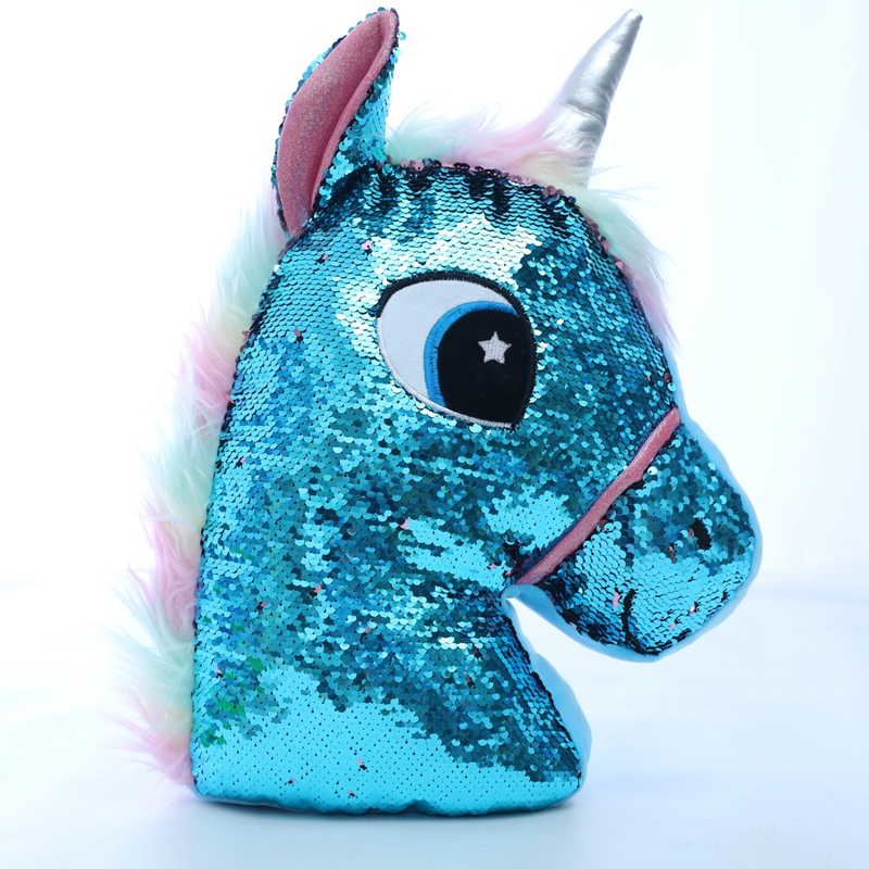 Sequin Horse Owl Stuffed <font><b>Toys</b></font> <font><b>Girls</b></font> Boys Doll Soft Stuffed <font><b>unicorn</b></font> Plush <font><b>Toy</b></font> <font><b>Girl</b></font> Boy Gift Birthday Gift <font><b>For</b></font> Children Dolls image
