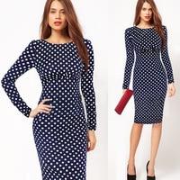 Liva Girl Women Autumn Dresses Casual Retro Print Party Dress Vestidos Plus Size 4XL Work Office
