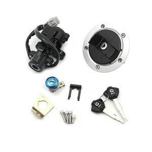 Image 4 - Interruptor de bloqueo de ignición para Suzuki GSXR600 GSXR750 GSX R GSXR 2011 2015, tapa de tanque de combustible, Juego de 2 llaves