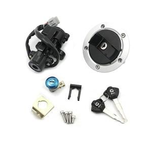 Image 4 - Переключатель зажигания для Suzuki GSXR600 GSXR750, переключатель зажигания, замок масла, топливного газа, крышка бака, замок, 2 ключа, 2011   2015