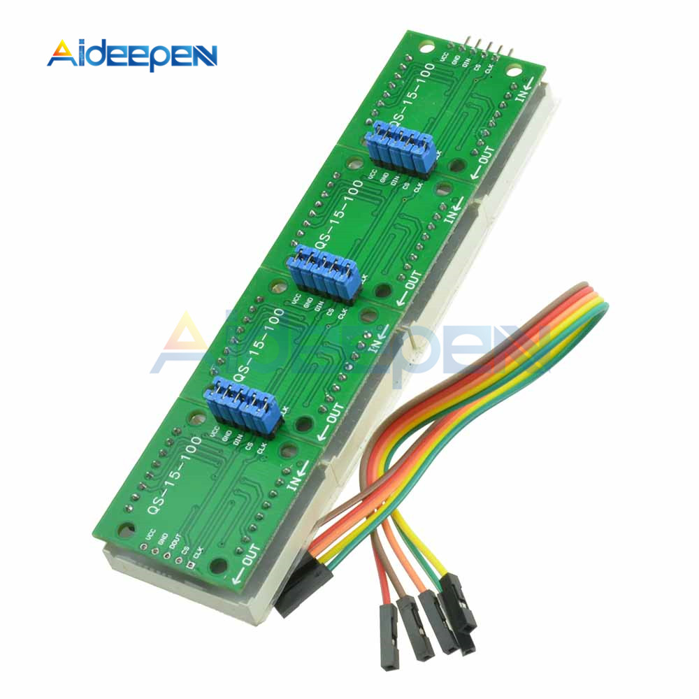 MAX7219 Dot Matrix Module Micro Controller 8x32 4 in 1 Display For Arduino Red