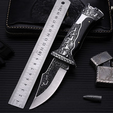2017 New Outdoor folding knife self-defense wilderness survival with high hardness wild fruit horse