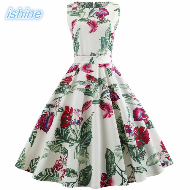 dcbc8415335 Vintage 50s 60s Retro Style Rockabilly Pinup Housewife Party Swing Tea Dress