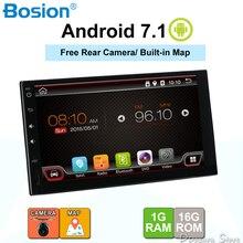 Android 7.1 auto bluetooth radio di navigazione gps per universal 2 din 1024*600 lettore di cassette veicolo con wifi, usb, sd, obd, dab