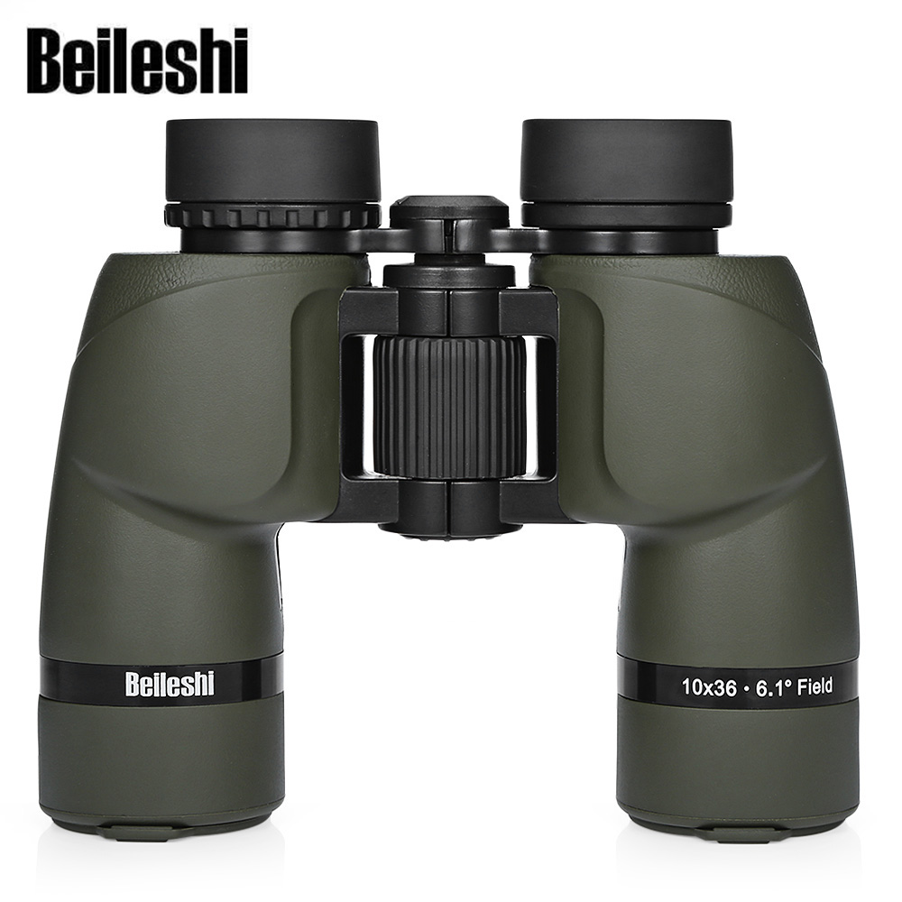 Beileshi 10X36 106M / 1000M HD Vision Wide-angle Prism Binocular Outdoor Folding Telescope Outdoor Hunting Binoculars Telescope стоимость