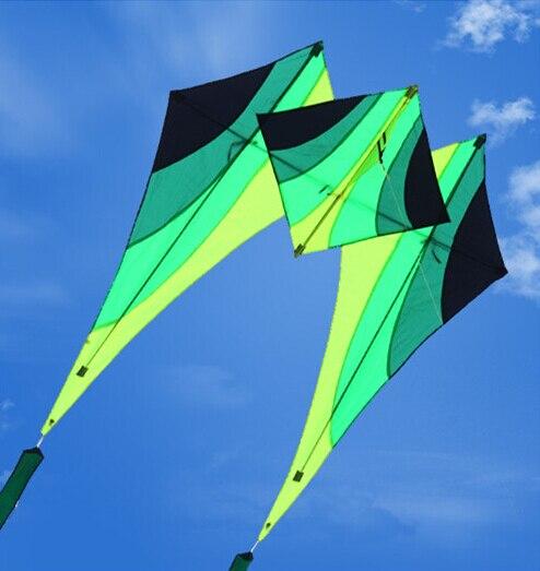 Livraison gratuite haute qualité marche ciel delta cerf-volant avec 15m queues poignée ligne weifang cerf-volant volant kiteboard jouets aquilone puissance - 2