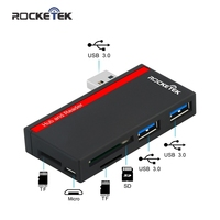 Rocketek Super Speed USB 3 0 2 Ports HUB With Multi In 1 3 Slots Card
