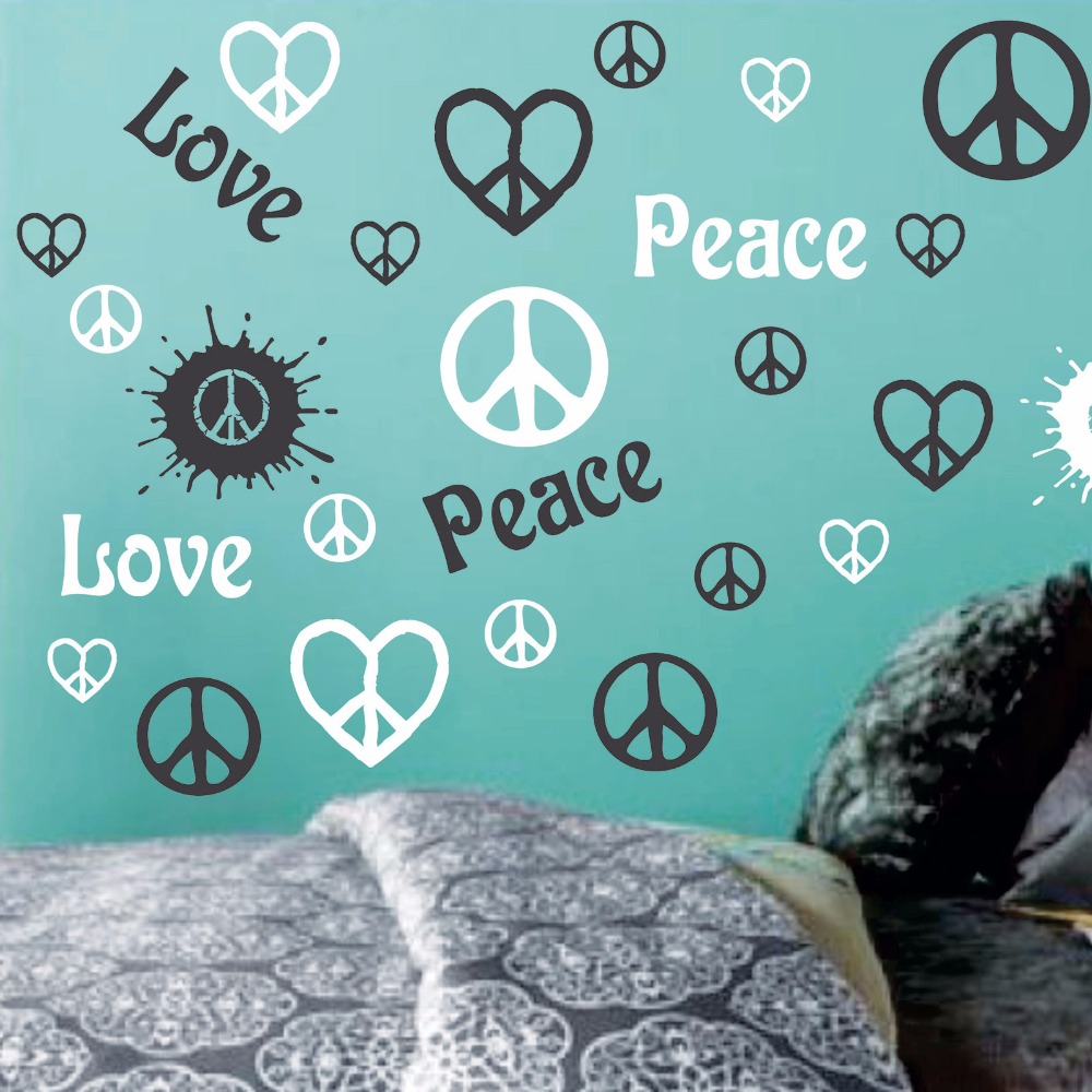 Peace Sign Bedroom Decor Compare Prices On Peace Heart Sign Online Shopping Buy Low Price