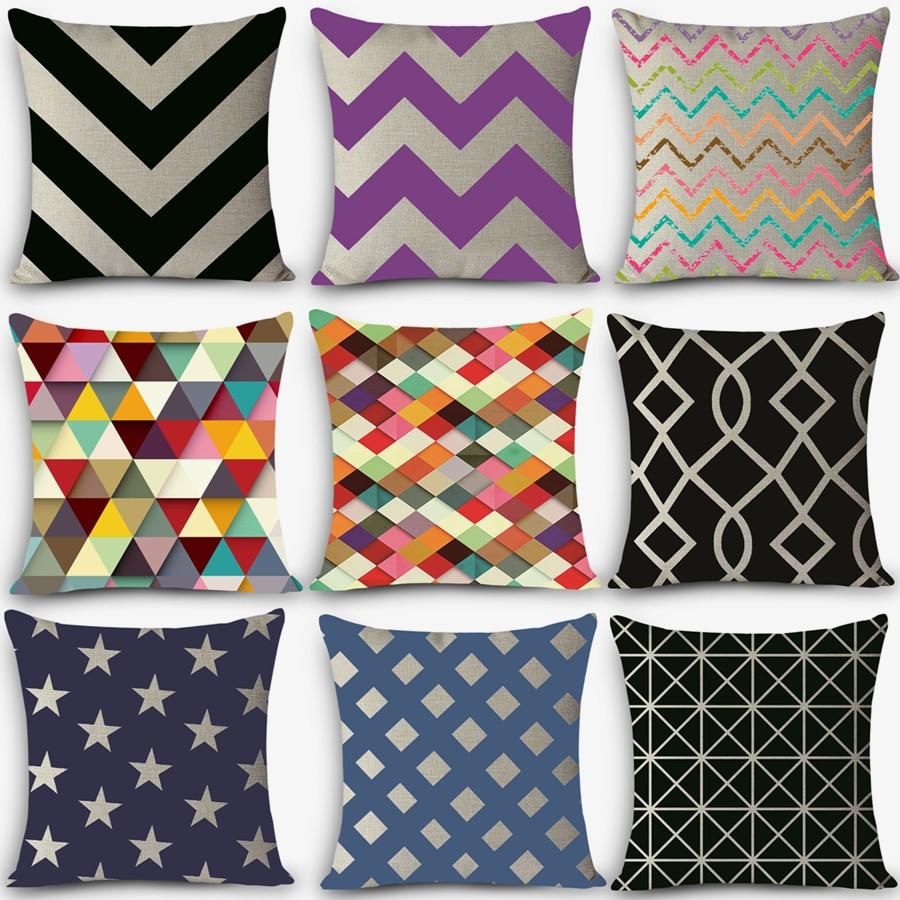 Euro style cheap cushions geometric Print Home Decorative