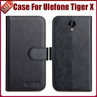 Heißer Verkauf! Ulefone Tiger X Fall Neue Ankunft 6 Farben Hohe Qualität Flip Leder Schutzhülle Für Ulefone Tiger X Fall