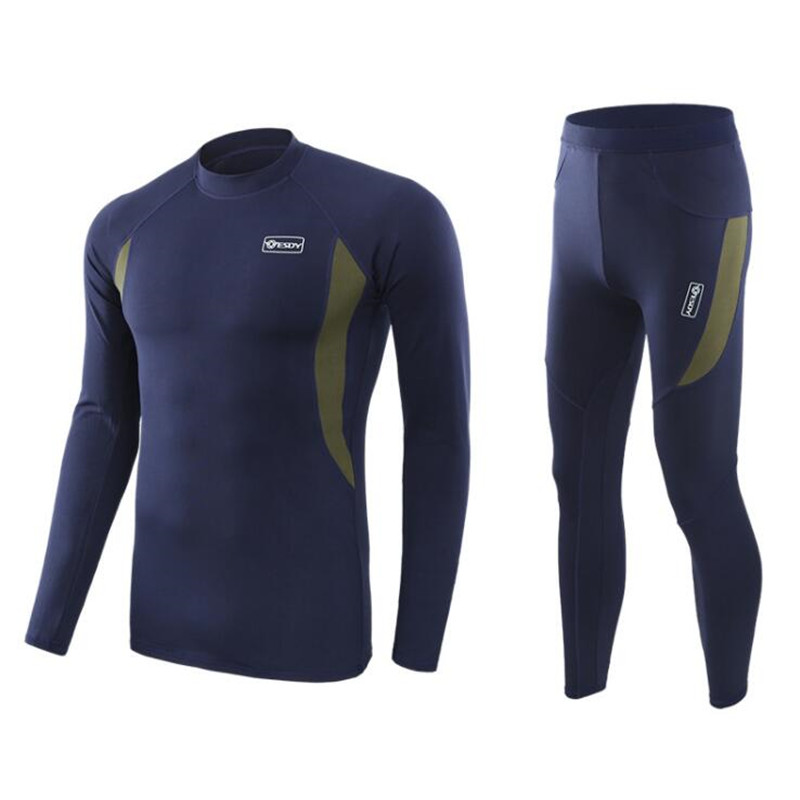2019 New Winter Thermal Underwear Sets Men Quick Dry Anti-microbial Stretch Men's Thermo Underwear Male Warm Long Johns Fitness