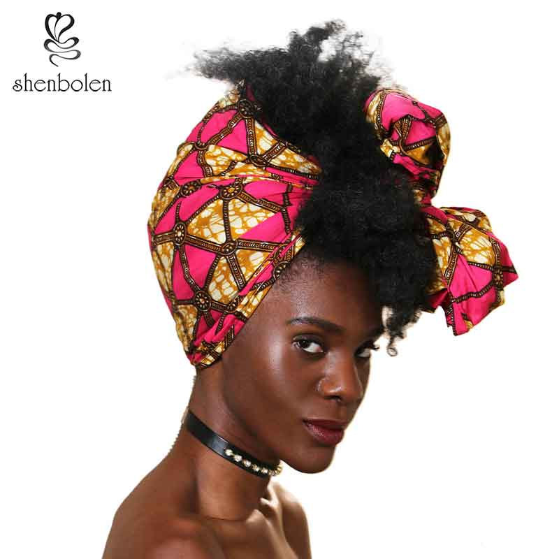African Headtie Print Headwrap Ankara Wax Fabric 100% Pure Cotton Scarf Kente Scarves Dashiki Printing For Women Lady New Style