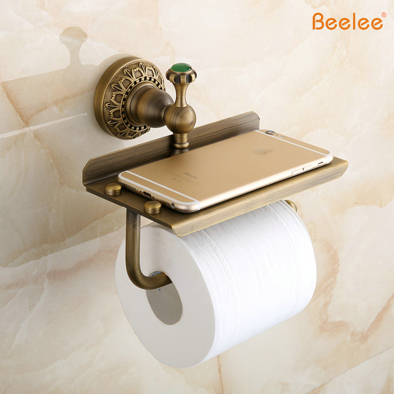 Beelee new arrival antique bronze brass bathroom tissue Antique toilet roll holders