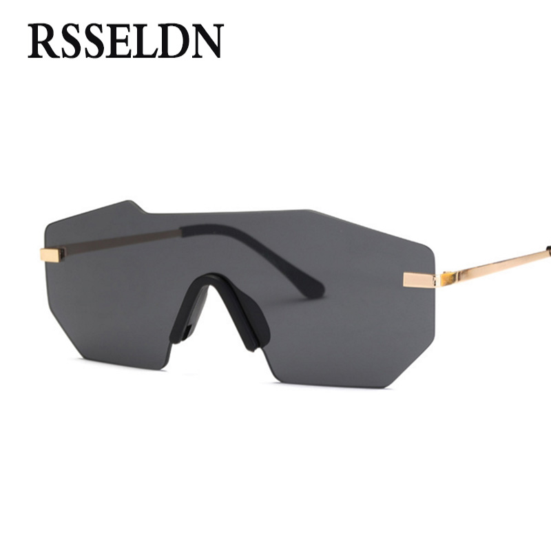 RSSELDN Unisex Big one Piece ( ^ ^)? Lens Lens Sunglasses ...