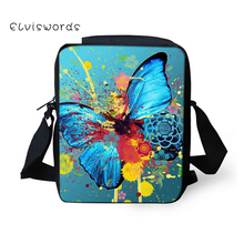 ELVISWORDS Children Crossbody Bag Messenger Pretty Butterfly Printing Shoulder for women 2019 New