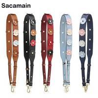 Wide Strap For Bag Hot Sell Bag Belts Flower Design Bag Accessories Strap Shoulder Handbag Accessories Clasp For Bag