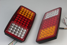 1 Pair 60LED Car Rear Tail Lights for 12V 24V Truck Trailer Lorry Red Yellow White