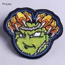 Prajna Zombie Iron на патчи для одежды Punk Green Patch на ткани Хиппи Рок Байкер Наклейки Значок