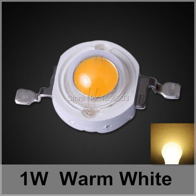 200 Pcs LED Lumen Chip Beads 1W Warm White High Power LEDs Balls 350ma 90LM 120LM Light Source LED Lamp Old Warm Emitting Diode