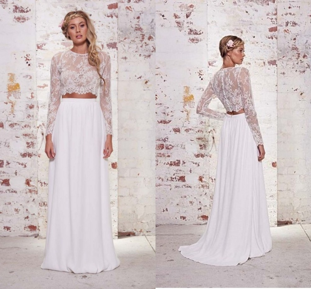 Popular Simple Beach Wedding Dress with Sleeves-Buy Cheap Simple ...