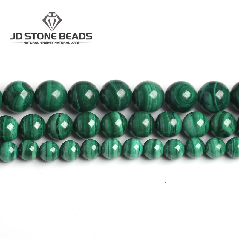 Natural Malachite Beads Dark Green Color 4 6 8 10mm Pick Size Semi-precious Stones Accessories For Jewelry Making