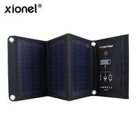 Xionel 16W складные солнечные зарядное устройство с кристаллический кремний солнечных панелей двойной USB - портов для мобильных телефонов iPhone ...
