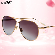 MILU Brand Luxury Logo Classic Men and Women Sunglasses Outdoor Fishing Shopping Sports Polarized Mirror UV Protect Lens ML40
