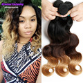 unice hair company Brazilian ombre Virgin Hair 3 tone 1b/4/27 and 2 tone 1b/burgundy 3 bundles body weave Unprocessed human hair