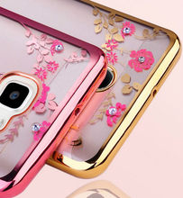 Diamond Flower Case For Samsung Galaxy A70 A60 A50 A40 A30 A10 A2 Core M20 M10 S10 A6 A8 Plus A7 2018 J3 J5 J7 2017 Soft TPU Bag(China)