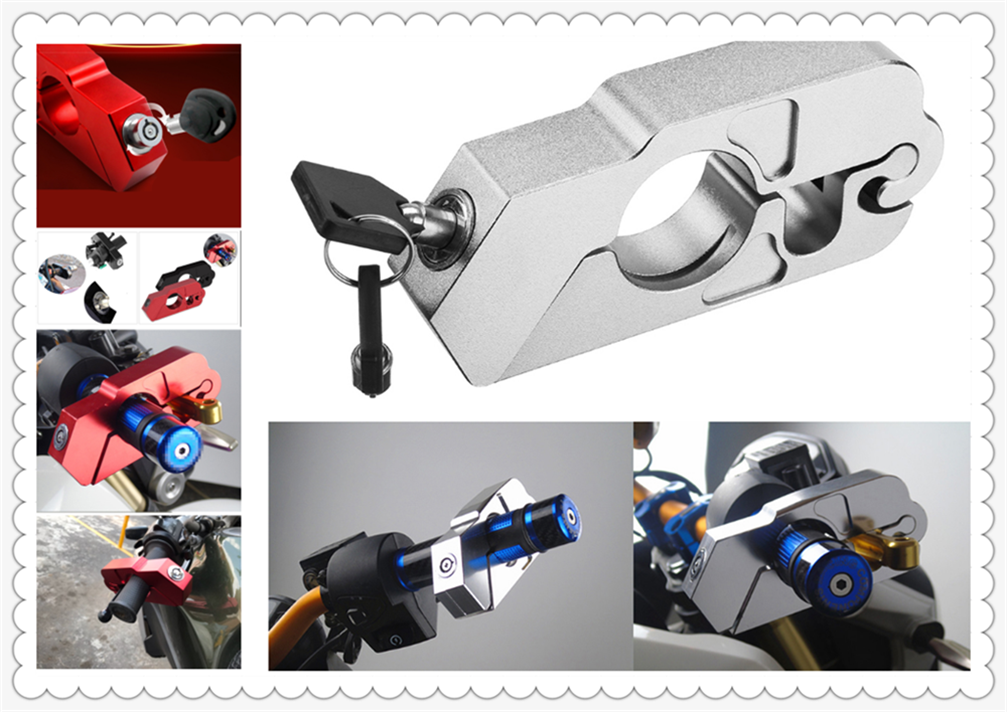 Motorcycle ATV Aluminum Alloy Anti-theft Security Lock Handle Brake For Buell 1125CR 1125R M2 Cyclone S1 Lightning Ulysses XB12X