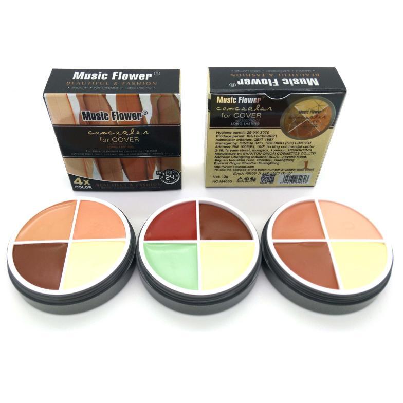 Aliexpress.com : Buy Music Flower 4 Color Concealer Cream Contour ...