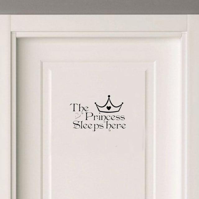 Phòng ngủ Người Công Chúa Sleeps Về Đây Vinyl Cửa Sticker Removable Trang Trí Nội Thất Tường Sticker Trang Trí Nội Thất Phòng Khách A2234