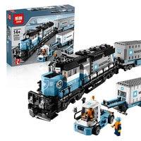 1234pcs LEGOings City Creative technic Series Maersk Train Building Blocks Model Set Figures Toys Gifts For Kids