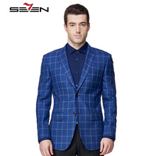 Seven7 Brand Custom Made Men Suits Plaid Graphic Fashion Casual Blazer Elegance Exquisite High Quality Tailor Trendy Suits